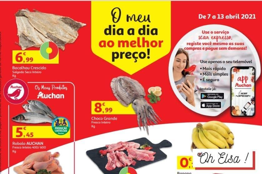 Folheto Auchan Antevisão – Promoção de 7 a 13 Abril 2021